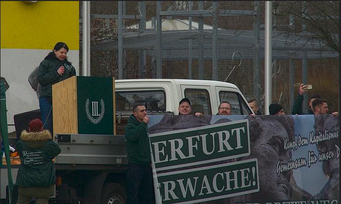 Kundgebung der Nazis, Infos zu den Abgebildeten bitte per Mail.